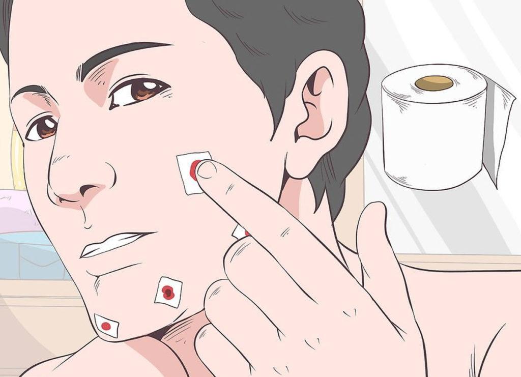 Как остановить кровь при порезе бритвой
