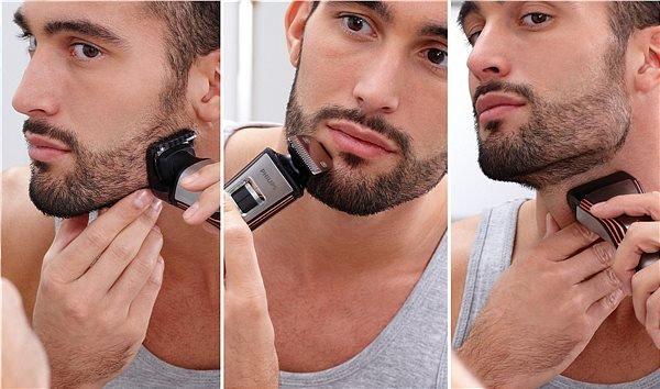 коррекция бороды триммером