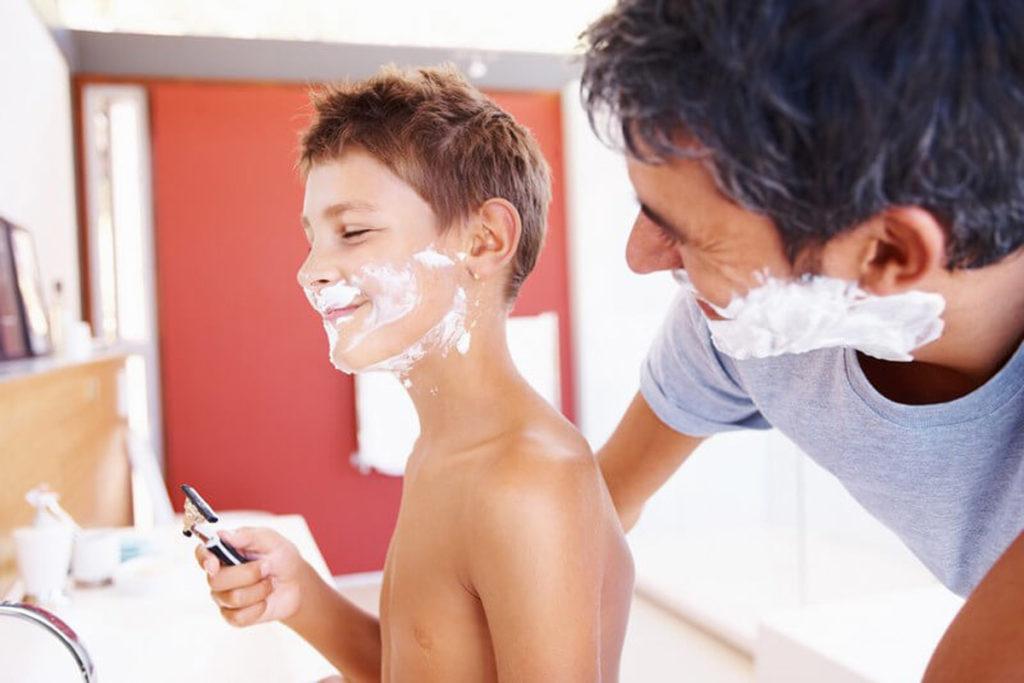 как брить усы