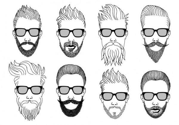 борода по форме лица