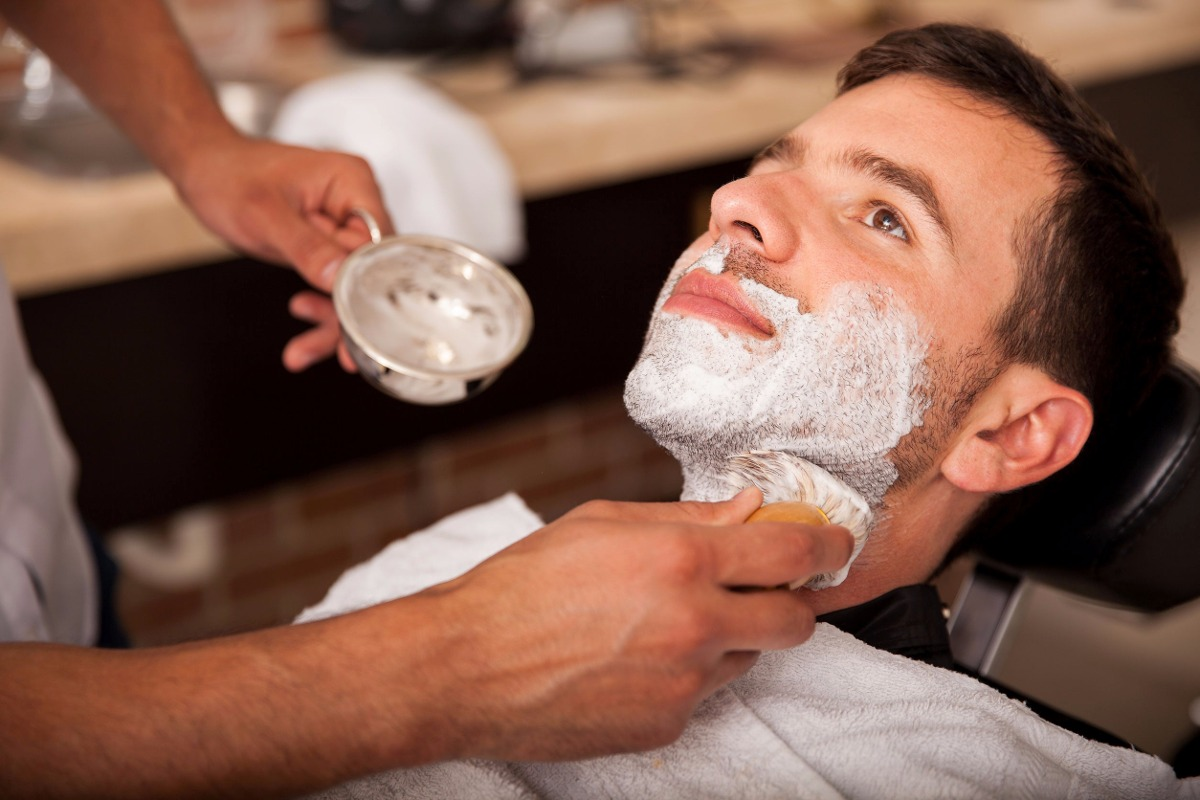 Mens facial shave