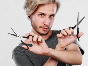 стрижка ножницами