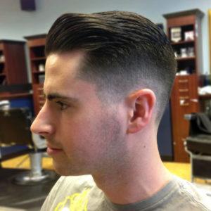 Мужская стрижка для тонких волос Полубокс
