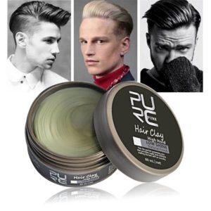 укладка с помощью глина для укладки волос для мужчин
