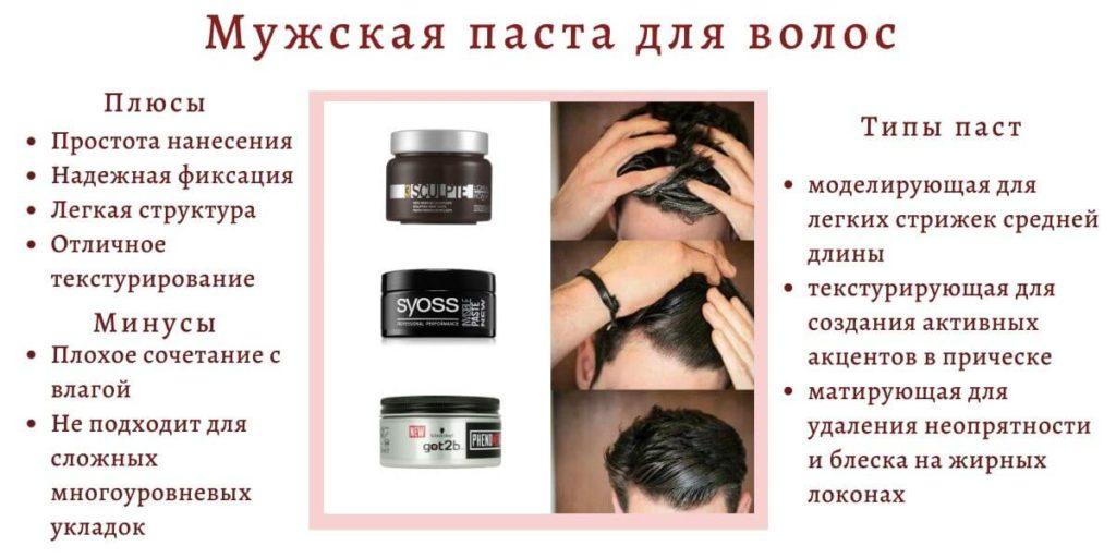 мужская паста для волос