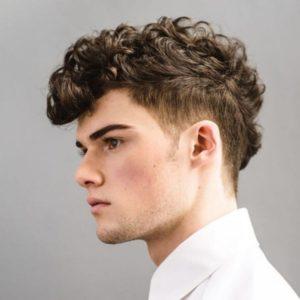 мужская стрижка вояж на волнистые волосы