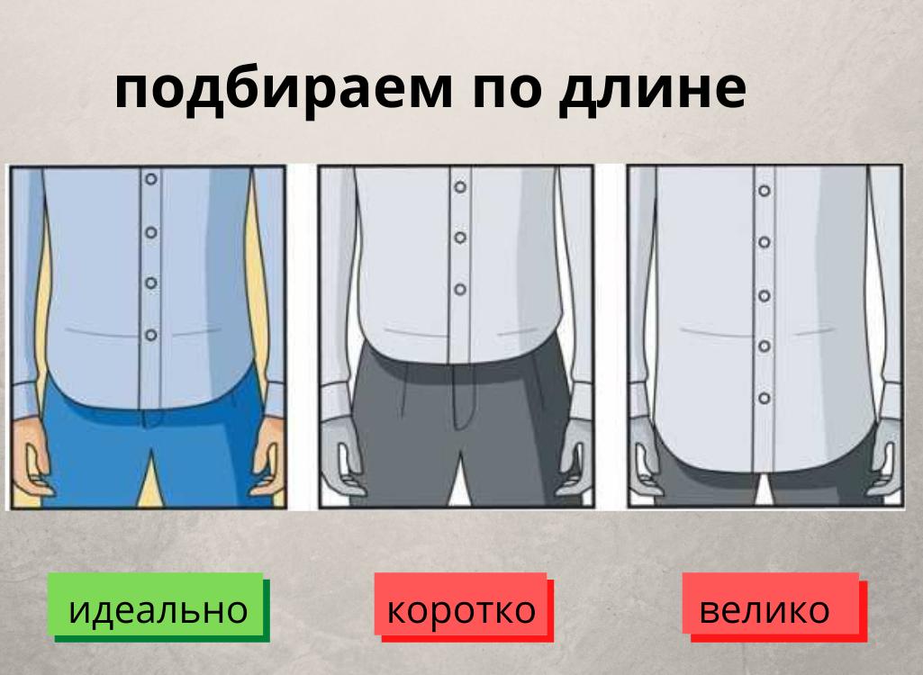 Как подобрать рубашку по длине