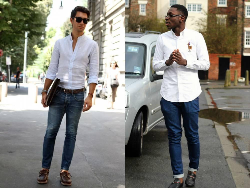 мужчины в джинсах и рубашках