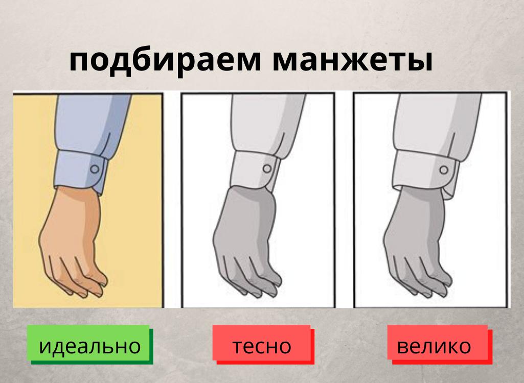Как подобрать ширину манжет