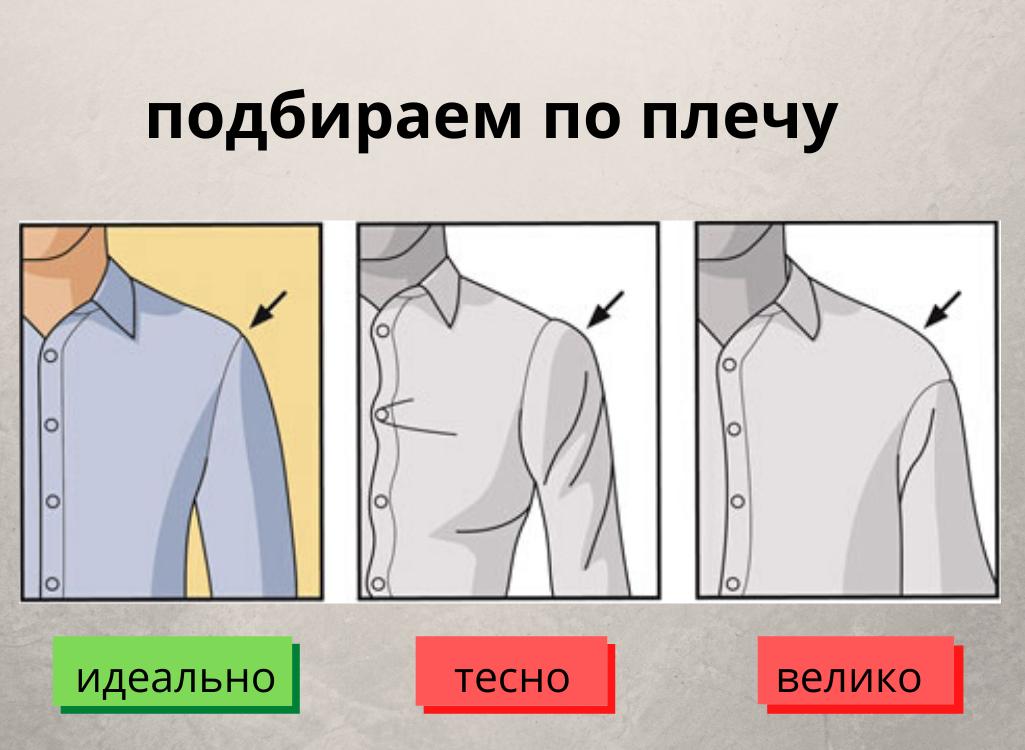 Как подобрать рубашку по ширине плеча