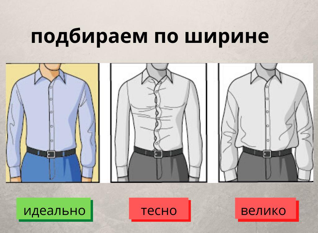 Как подобрать рубашку по ширине