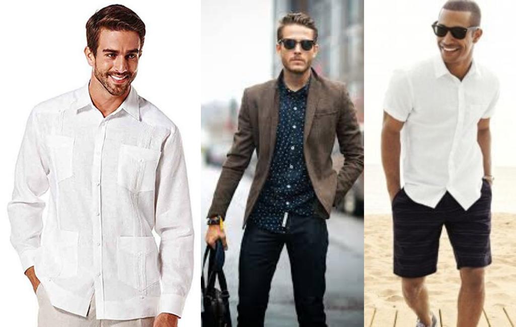 Мужчины в рубашках на выпуск