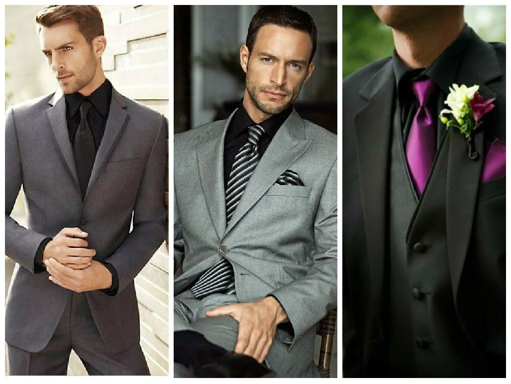Черная мужская рубашка в сочетании с костюмом