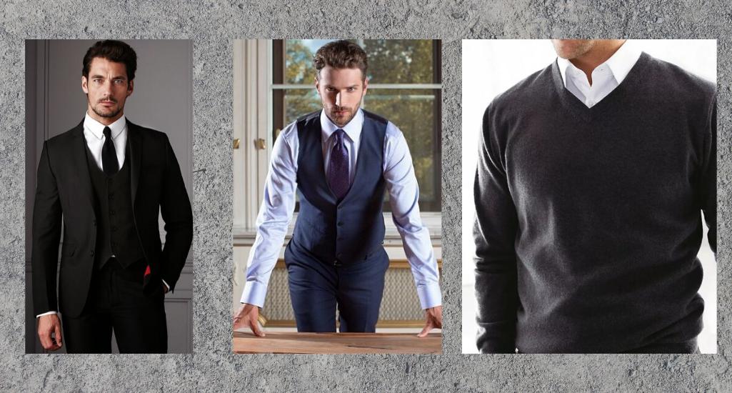 Мужская сорочка в разных комбинациях ношения
