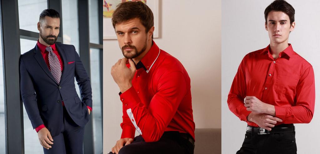 С чем носить красную рубашку