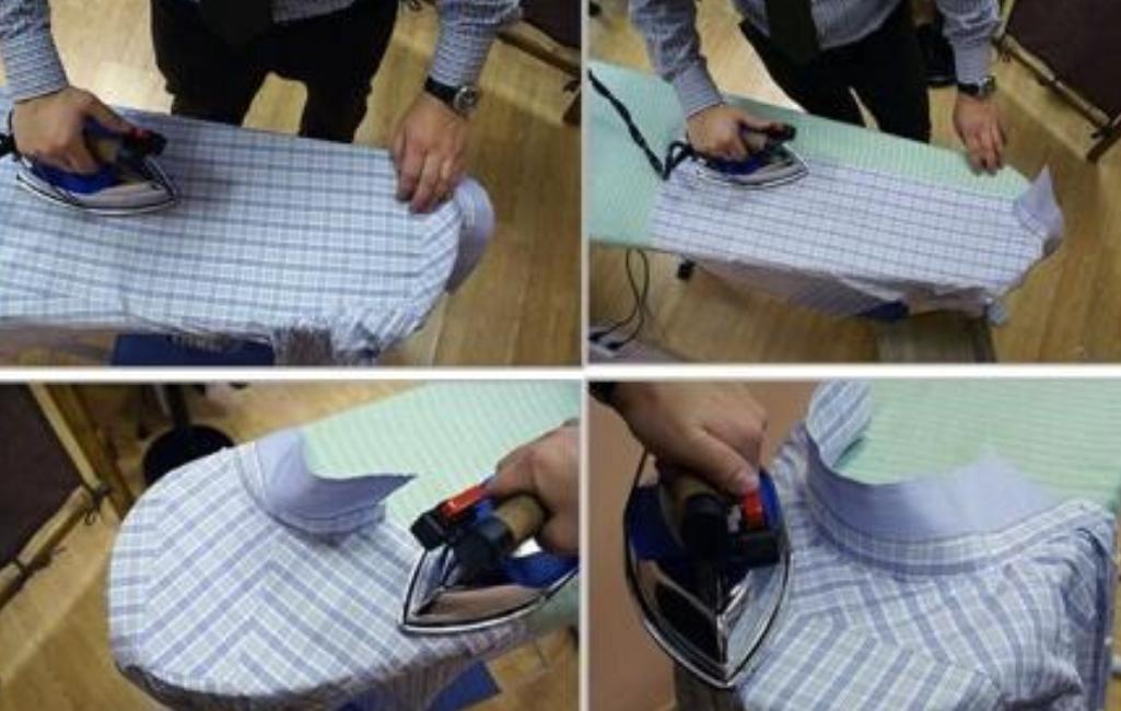 Этапы глажки рубашки
