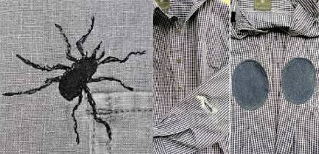 Рубашка с дырками и без