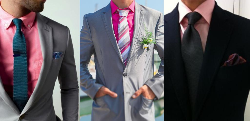 С чем носить розовую мужскую рубашку