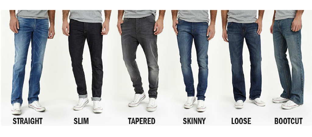 Виды мужских джинс
