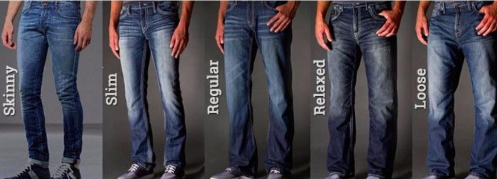 Мужские джинсы разных фасонов