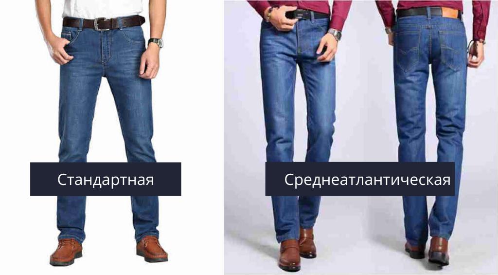 Варианты длины классических джинс