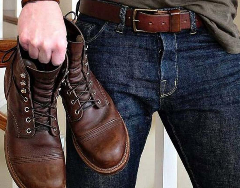 Обувь, ремень, джинсы