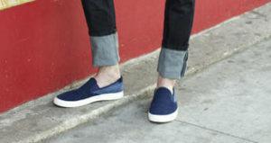 Широкая манжета на джинсах