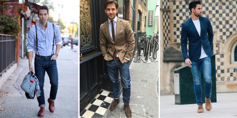 Мужчины в синих джинсах
