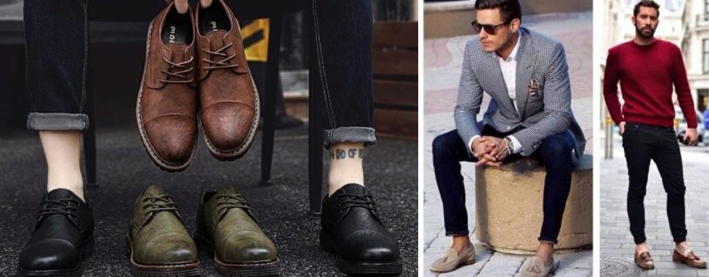 Зауженные укороченные джинсы и ботинки