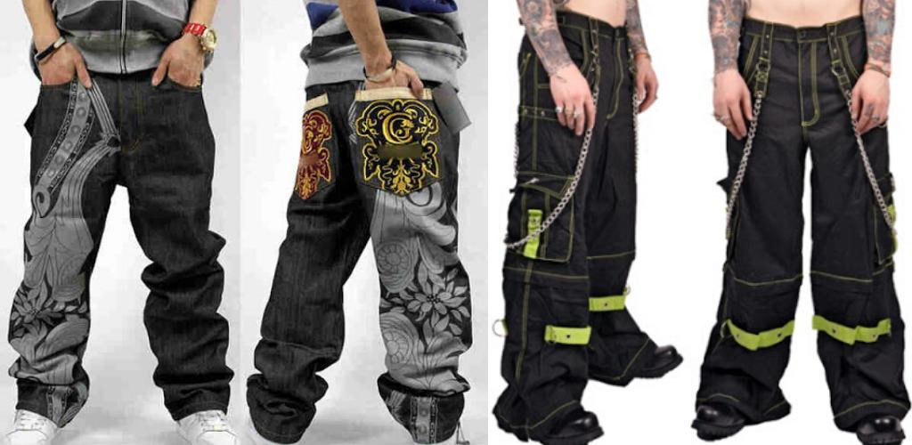 Молодежные джинсы-трубы