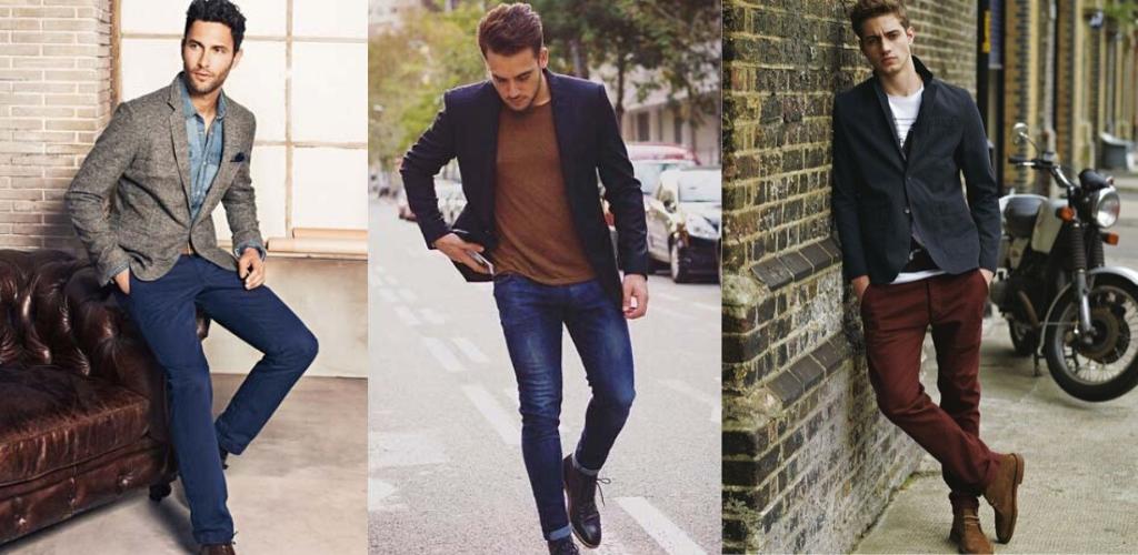Мужчины в пиджаках и джинсах