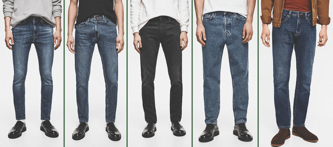 Модели мужских джинс