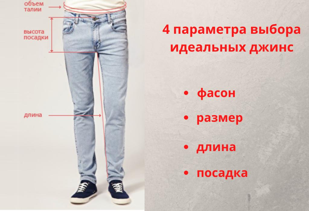 Параметры выбора мужских джинс