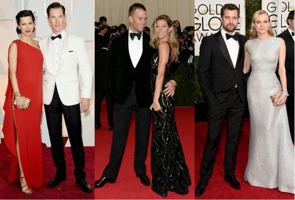Мужчины и женщины в вечерних нарядах