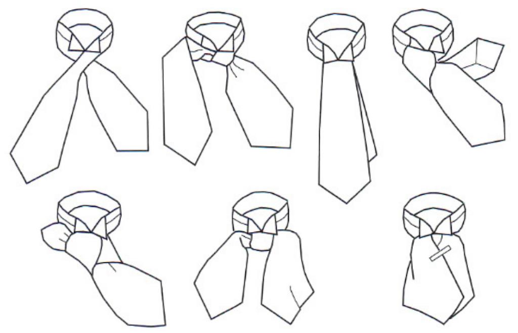 Как завязать галстук пластрон