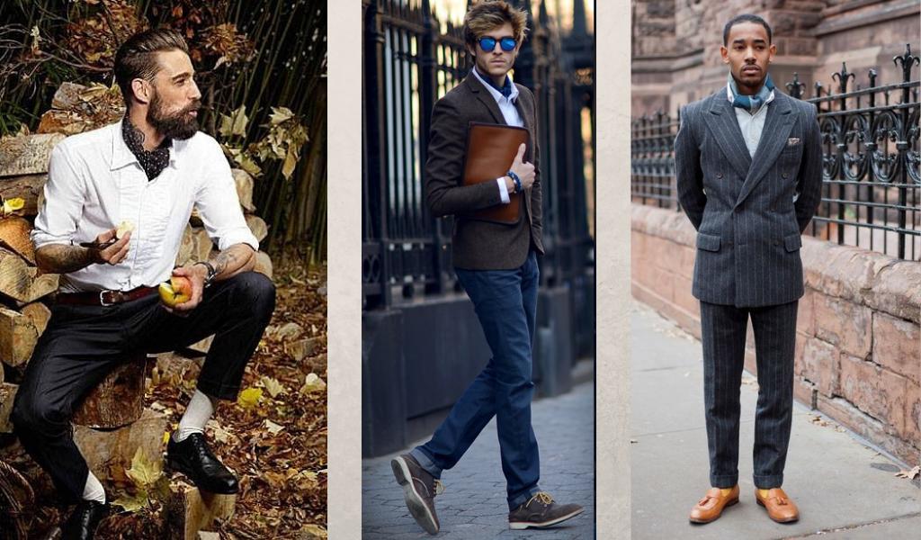 Мужчины с галстуком аскот