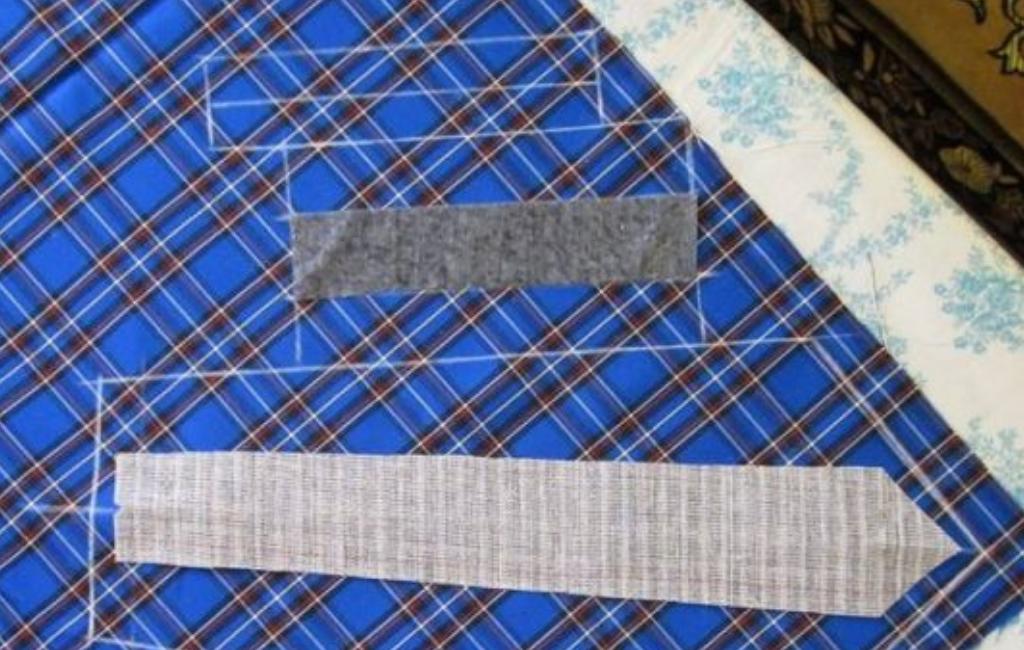 Расположение выкройки на ткани