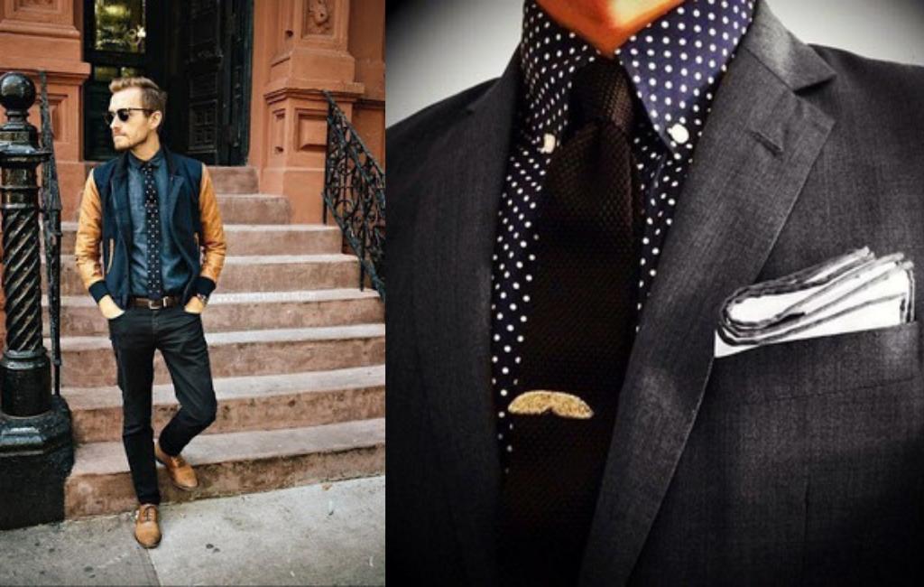 Мужчины с вязаным галстуком