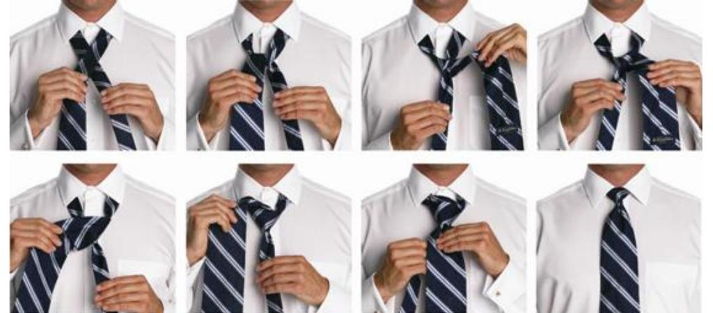 Классический узел для галстука