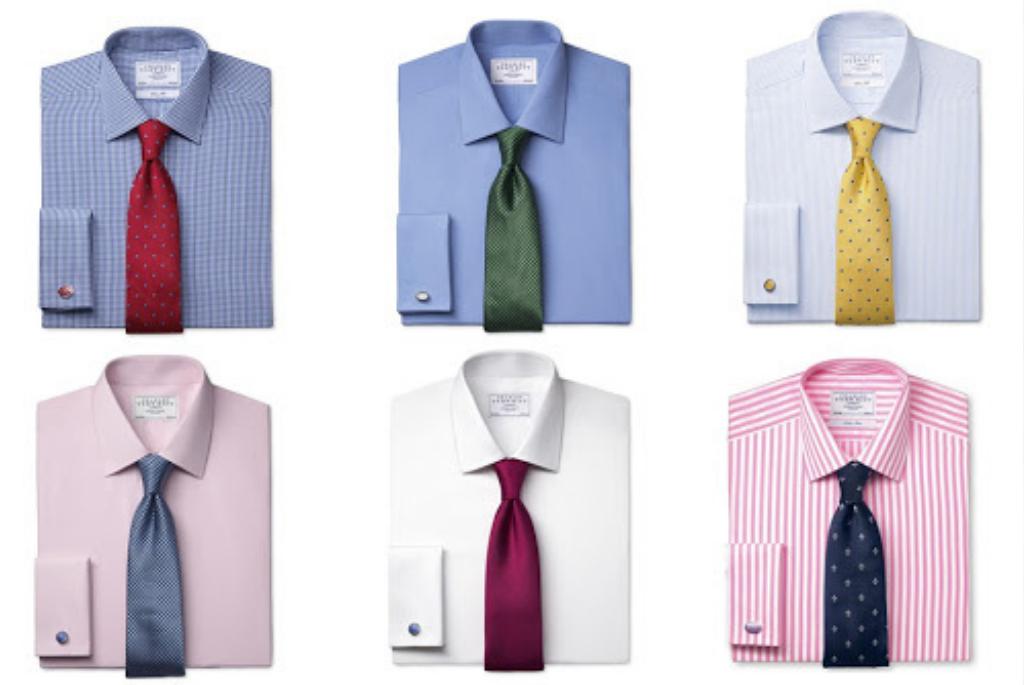Сочетание рубашки и галстука
