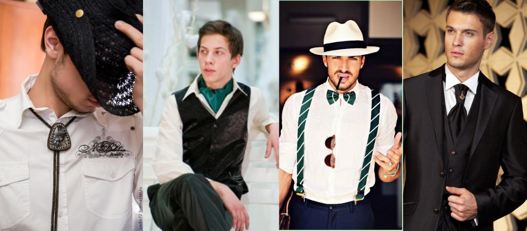 Разные виды галстука