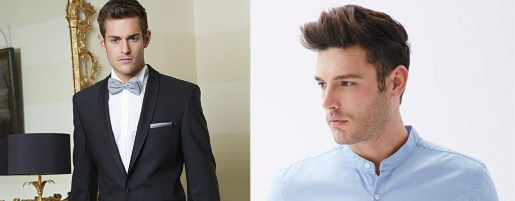 Мужчины в костюме и в рубашке