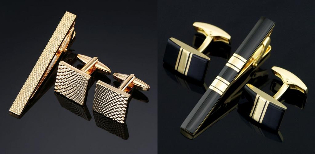 Запонки и зажим для галстука