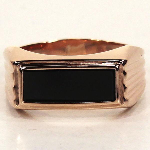 Прямоугольное мужское кольцо